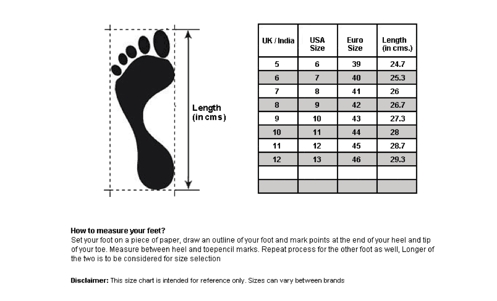 how to measure your foot size and width uk
